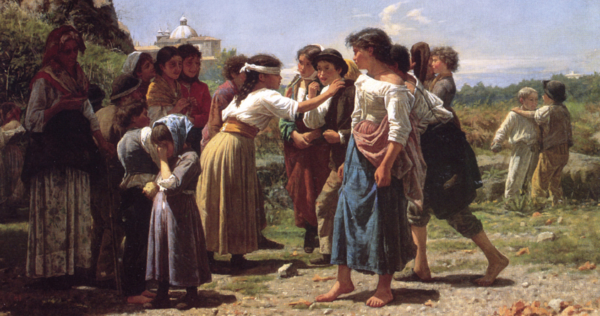 «La mosca cieca» di Noè Bordignon (1873)